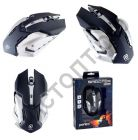 Мышь провод. игров. Perfeo SHOOTER, 6 кн, USB, чёрн, подсветка 6 цвет (PF-1709-GM)